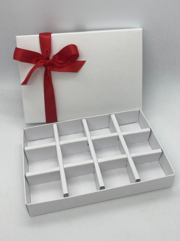 SOLID LID 12 CAVITY INSERT BOX BLANK 168 X 115 X 26mm