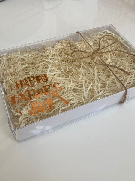 BRONZE FATHER'S DAY TOOLS CLEAR LID GIFT BOX 240x155x30m