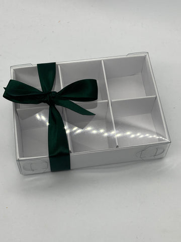 CLEAR LID 6 CAVITY INSERT BLANK 115 X 85 X 30mm