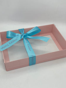 DEEP CLEAR LID PINK GIFT BOX BLANK 240x155x50mm