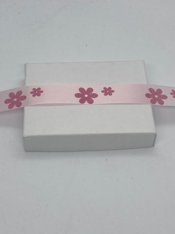 Baby Pink Flower Packaging Ribbon - Biodegradable