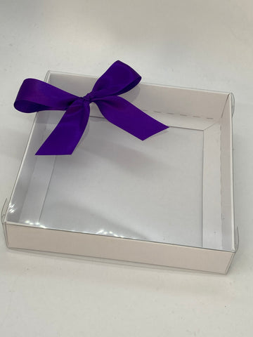 CLEAR LID SQUARE BOX BLANK 155 X 155 X 30mm