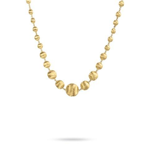 18K Africa Collection Yellow Gold Mixed Bead Collar Necklace