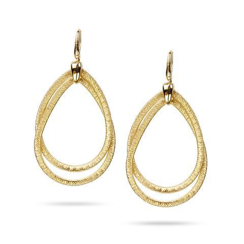 18K Cairo Collection Yellow Gold Medium Drop Earrings