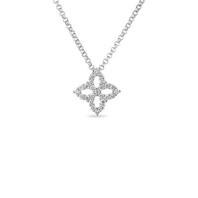 18K Princes Flower Pendant on Chain