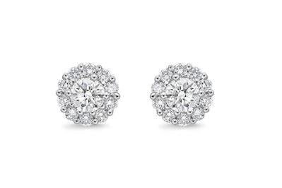 Blossom Diamond Earrings .25 Total Carat Weight