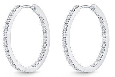 Diamond Huggie Hoops .52 Total Carat Weight