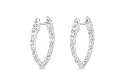 Diamond Imperial Hoops