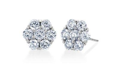 Floral Diamond Earrings 1.0 Total Carat Weight