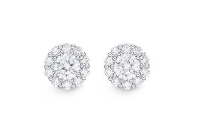 Diamond Blossom Earrings .75 Total Carat Weight