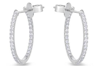 Diamond Hoops 1.03 Total Carat Weight