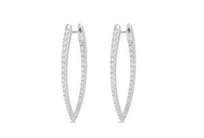 Diamond Imperial Hoops 1.50 Carat Total Weight
