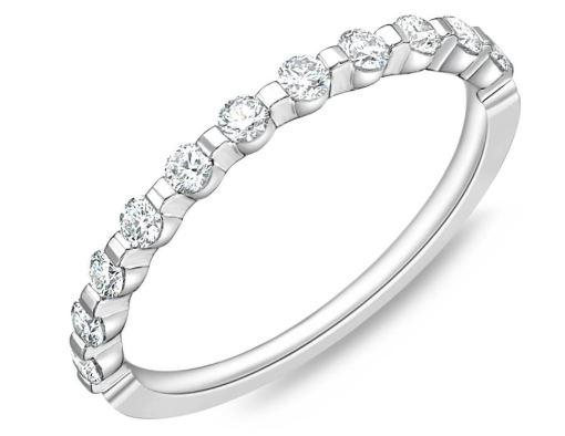 Diamond Precious Prong Band .32 Carat Total Weight