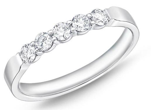 Diamond Petite Prong 5 Stone Band .34 Total Carat Weight