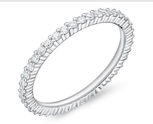 Diamond Petite Prong 40 Stone Eternity Band .54 Carat