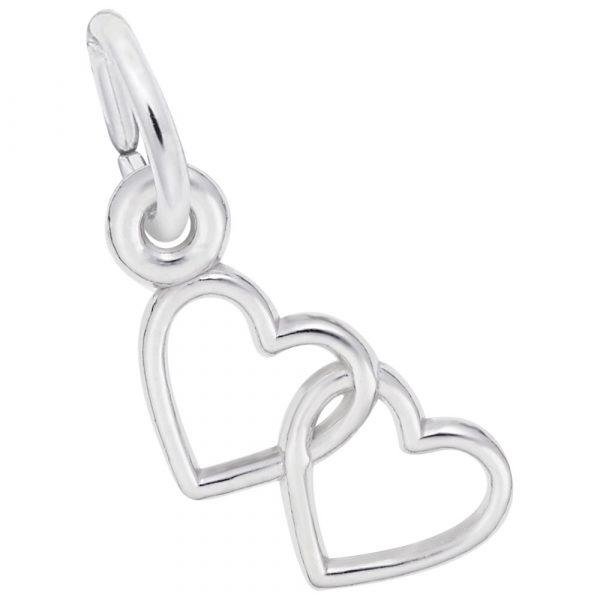 Two Open Hearts Accent Charm
