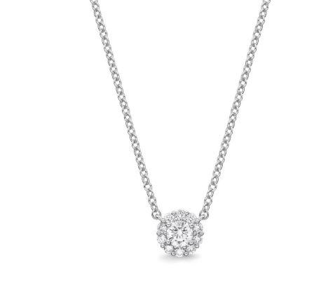 Diamond Blossom Pendant .25 Total Carat Weight