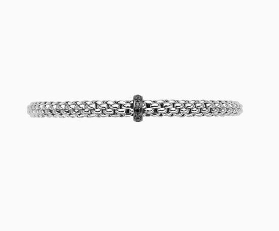 Solo Collection Flex'it Bracelet with .11 Carat WeightBlack  Diamonds in 18k Gold