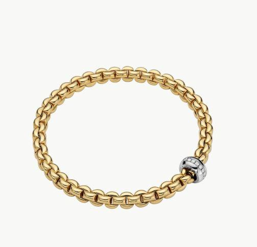Eka Collection Flex'it Bracelet with .15 Carat Weight Diamonds
