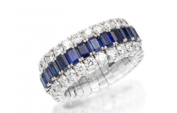 Xpandable Collection Full Eternity Sapphire Band
