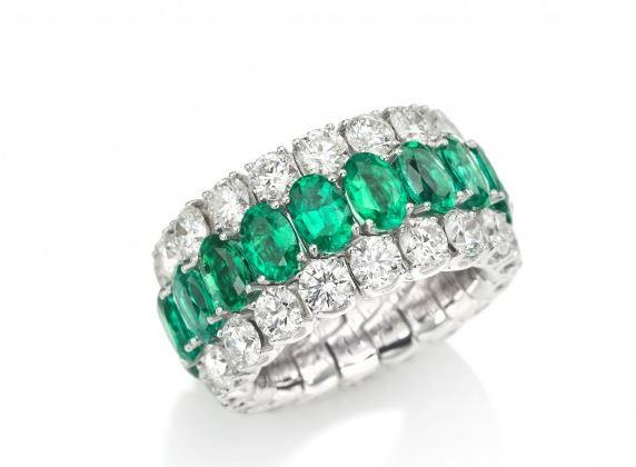 Xpandable Collection Full Eternity Oval Emerald Band