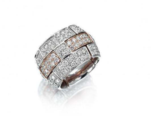 Xpandable Collection H Ring with Diamonds