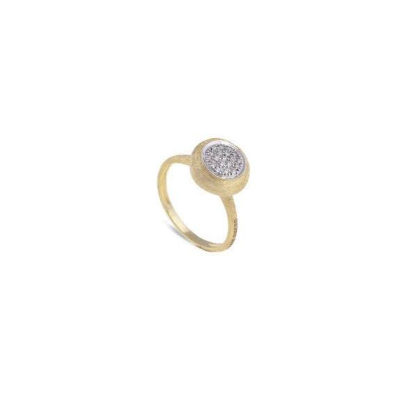 18K Yellow Gold with Diamond Medium Stackable Ring