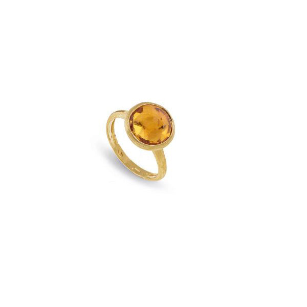 18K Yellow Gold Citrine Medium Stackable Ring