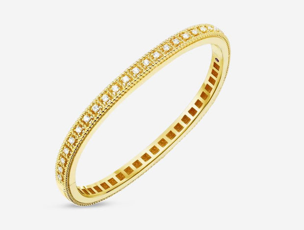18KT  BAROCCO GOLD BANGLE WITH DIAMONDS