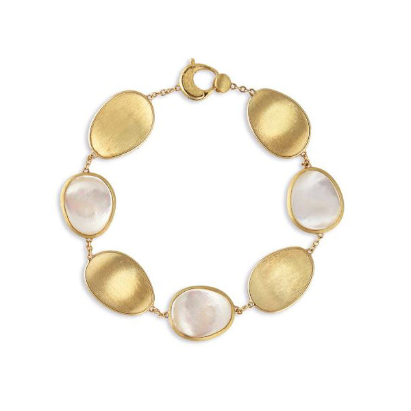 18K Lunaria Collection Yellow Gold and White Mother of Pearl Bracelet