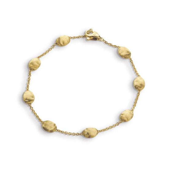 18k Siviglia Collection Yellow Gold Medium Bead Bracelet