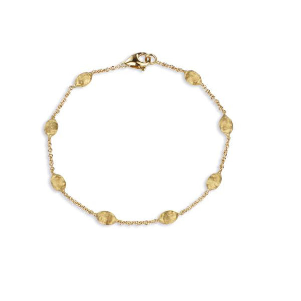 18K Siviglia Collection Yellow Gold Small Bead Bracelet