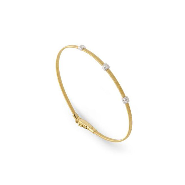 18K Masai Collection Three Station Diamond Bracelet in Yellow Gold