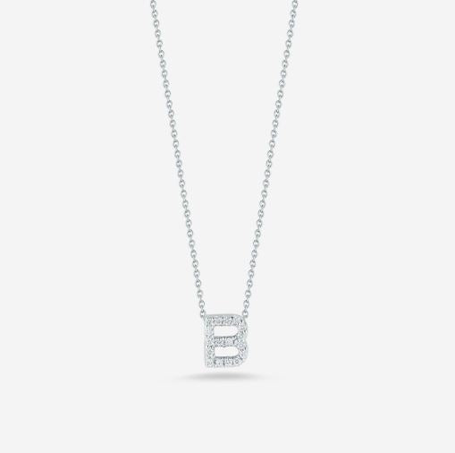 "LOVE LETTER ""B"" DIAMOND PENDANT"