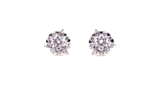 .23 CTW Diamond Bouquets 3-Prong Studs