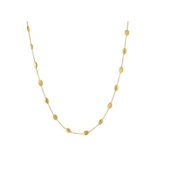 18K Siviglia Collection Yellow Gold Polished and Engraved Necklace