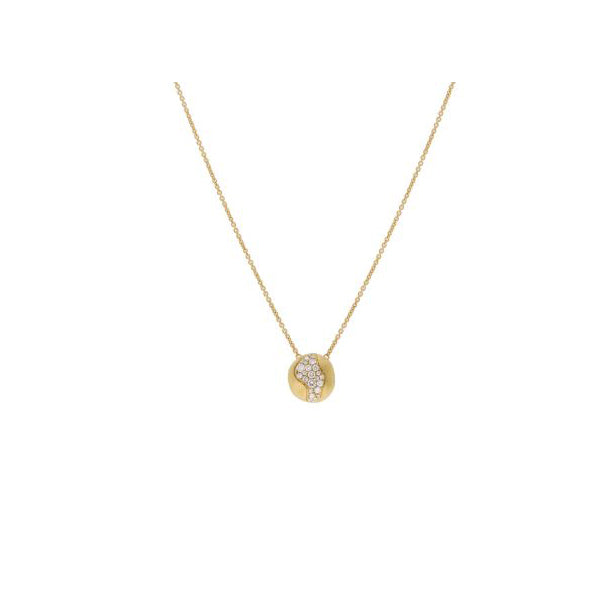 18K Africa Collection with Diamonds Medium Pendent Necklace