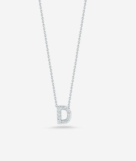 "LOVE LETTER ""D"" DIAMOND PENDANT"