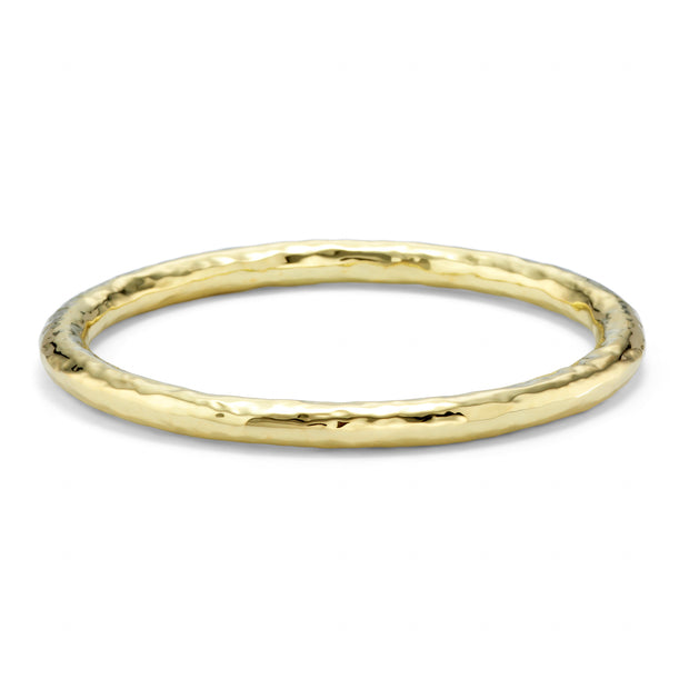 18K Classico Hammered Large Bangle