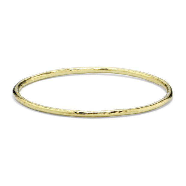 18K Classico Hammered Small Bangle