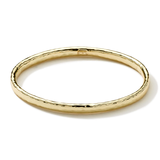 18K Classico Hammered Flat Bangle