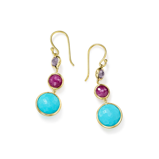 18K Lollipop® Small 3-Stone Drop Earrings in Multi-Color