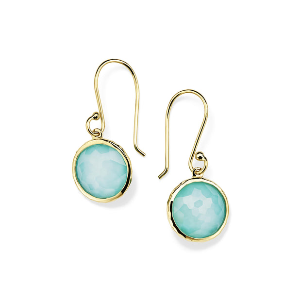 18K Lollipop® Mini Drop Earrings in Turquoise Doublet