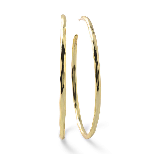 18K Classico Large Squiggle Hoop Earrings