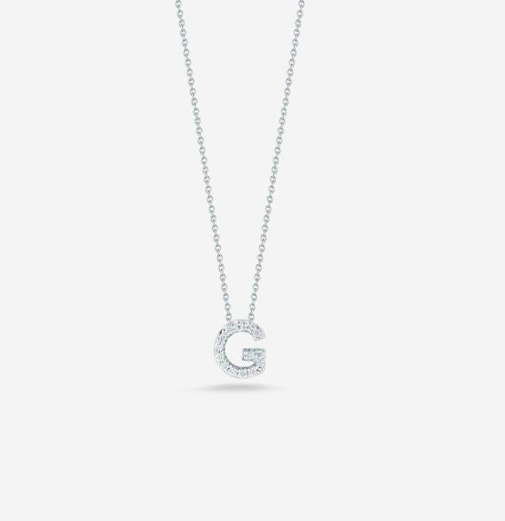 "LOVE LETTER ""G"" DIAMOND PENDANT"