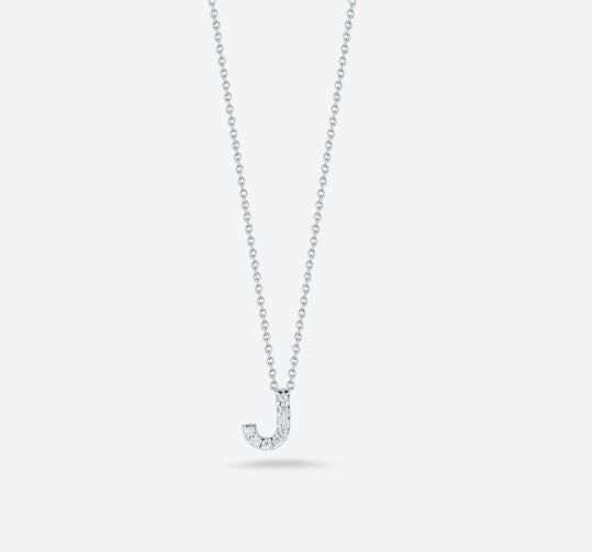 "LOVE LETTER ""J"" DIAMOND PENDANT"
