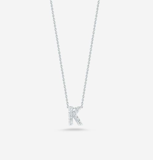 "LOVE LETTER ""K"" DIAMOND PENDANT"