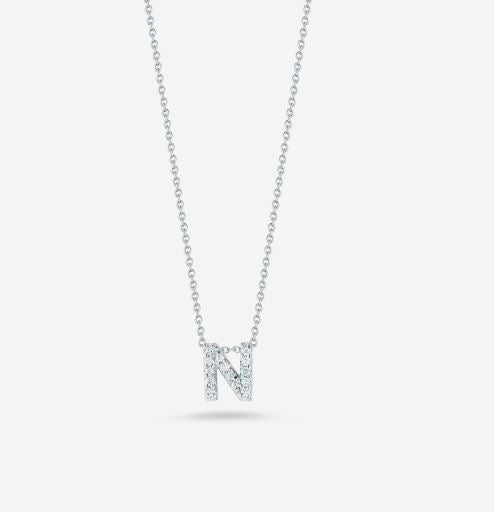 "LOVE LETTER ""N"" DIAMOND PENDANT"