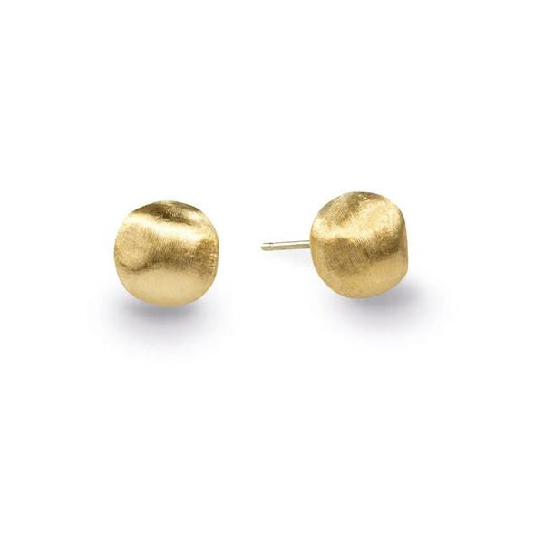 18K Africa Collection Yellow Gold Small Stud Earrings