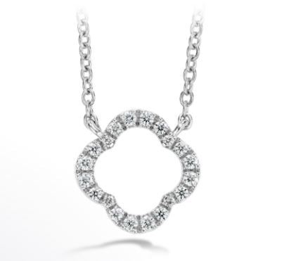 18K Signature Petal Diamond Pendant Small